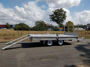 Double Axle Flat Bed Trailer