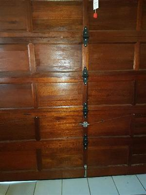 Wooden Merati single garage door for sale
