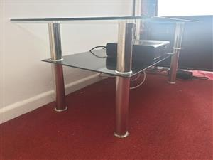 Tempered glass table for sale.