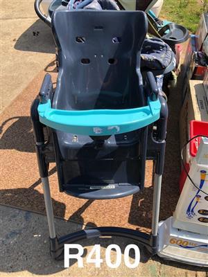 Dark and light blue feeding chair for sale