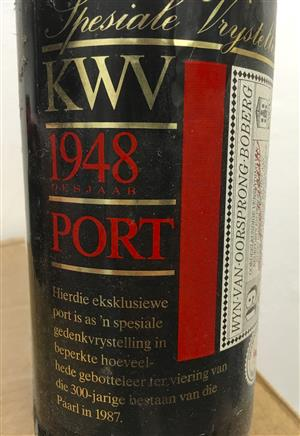KWV 1.5lt 1948 rare bottle of Port, used for sale  Cape Town - Northern Suburbs
