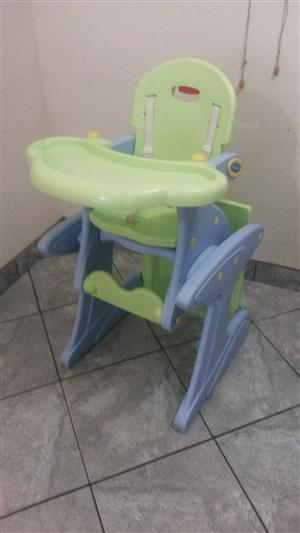 Baby Feeding High Chair Folding into Table Set