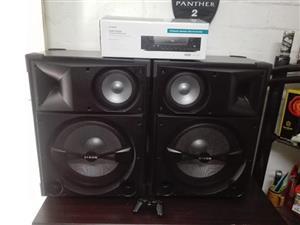 2 dixon speakers with dixon bluetooth amp