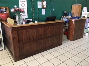 Pine & Solid Oak Shop Counter
