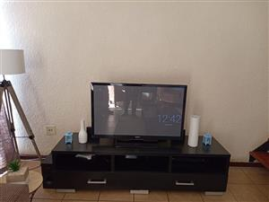 Wooden TV Stand and Coffee Table