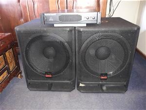 "Ep4000 amp+ 2x bassbin  cabs wharfdale Spk challengers c18-650el drivers 18"" 1200w"