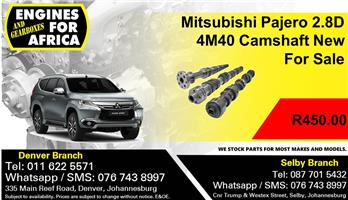 Mitsubishi Pajero 2.8D 4M40 Camshaft New For Sale