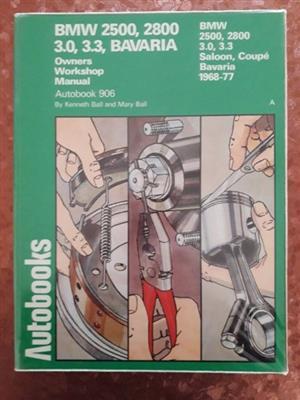 BMW 2500, 2800 3.0, 3.3, Bavaria - Autobook - 906 - Kenneth Ball - Owners Workshop Manual.