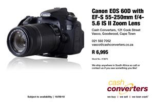 Canon EOS 60D with EF-S 55-250mm f/4-5.6 IS II Zoom Lens