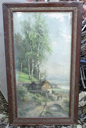 18th century rural scene painting for sale