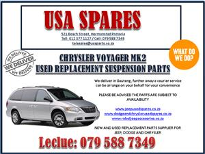CHRYSLER VOYAGER MK2 USED REPLACEMENT SUSPENSION PARTS. USA SPARES CALL NOW