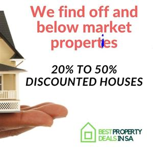 We source deeply discounted property deals for savvy investors