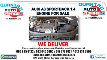 Audi Q3 2.0 tfsi 2014 Engine for sale