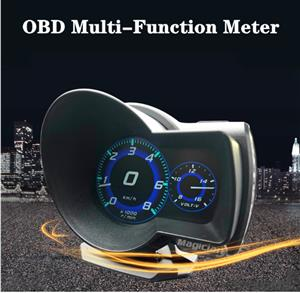 Car Electronics OBDII Gauge - F8 Head-Up Display Multi-functional LCD Instrument for Vehicles