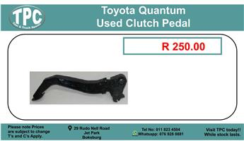 ToyotaQuantum Used Clutch Pedal For Sale.