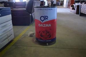 Orgazma energy drink container