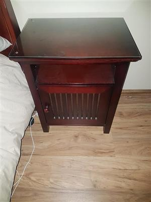 Dark wooden bedside table for sale