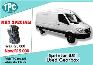 Mercedes Benz Sprinter 651 Used Gearbox For Sale at TPC