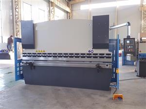 Press Brake, Hydraulic, Cap:160Ton x 3200mm, Motorized Backstop with 2 Axis NC Control, Brand New