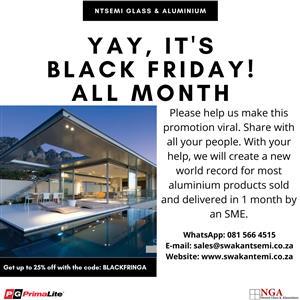Black Friday All November: 3600X2100 6 Panel Vista Fold Stacking Door: Save R 2,369.87