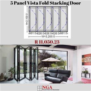 NGA 5 Panel Vista Fold Stacking Door