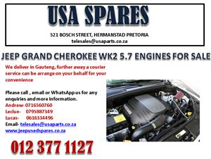 JEEP GRAND CHEROKEE WK2 5.7 ENGINES FOR SALE