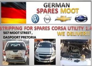 STRIPPING FOR SPARES - CHEV UTILITY 1.4 2013 FOR SALE