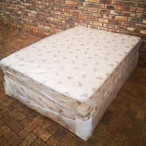 Peach Comfort Double Bed and Base