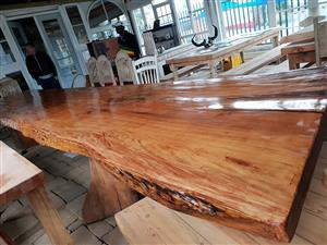 huge 24 seater slab table  5 and a half meters by 1.1