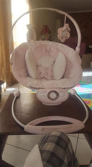 Pink rocking chair