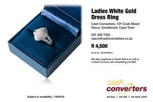 Ladies White Gold Dress Ring