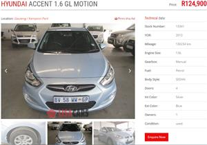 2012 Hyundai Accent sedan 1.6 Motion