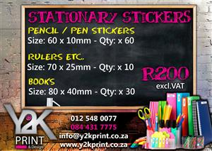 Stationary Stickers