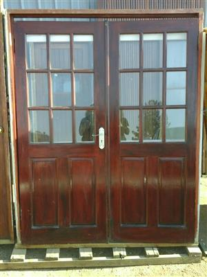 Double Wooden Door With Frame