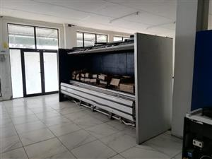 Display fridges with motor