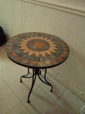 Kenyan Cotta Mosaic Bistro Table
