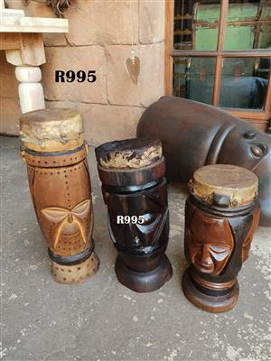 3 x African Drums (515mm 440mm 380mm )