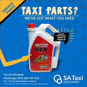 Castrol GTX Diesel 15W40 5l Engine Oil - SA Taxi Auto Parts quality service parts