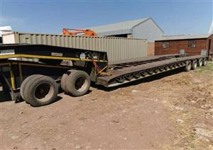 Used 2008 Martin 4 Axle Hydaulic Clipneck Lowbed Trailer with Dolly for sale