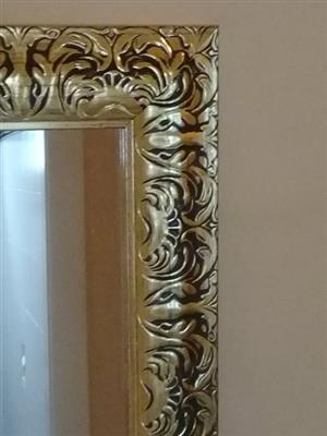 Golden framed mirror for sale