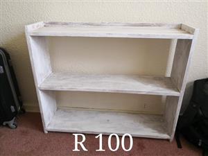3 Tier white shelf for sale