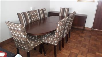 Executive Dark Wood Dining Room Suite