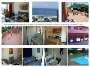Manaba beach apartment to rent furnished. Pool, braai etc. Secure.