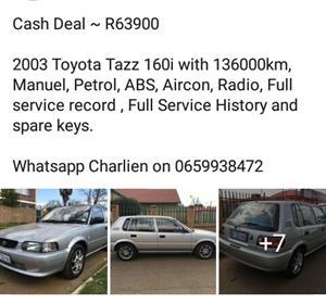 2003 Toyota Tazz 130 Sport