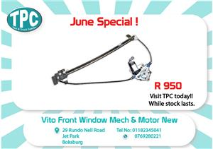 Mercedes Benz Vito Front Window Mech & Motor New for Sale at TPC