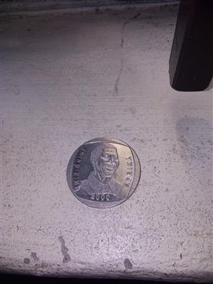 Mandela head r5 coin very rare