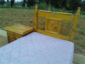 Pine single bed set