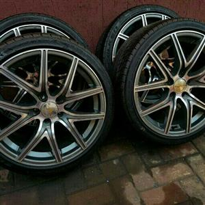 VW POLO 17INCH MAGS & TYRES 5X100