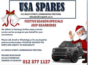 JEEP GEARBOXES- FESTIVE SEASON SPECIALS