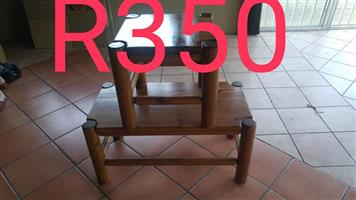 Wooden coffee and side tables for sale